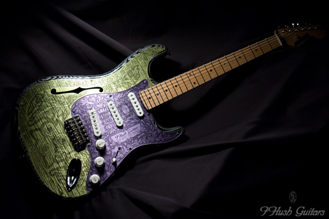 IHush Guitars  Strato Roses figured
