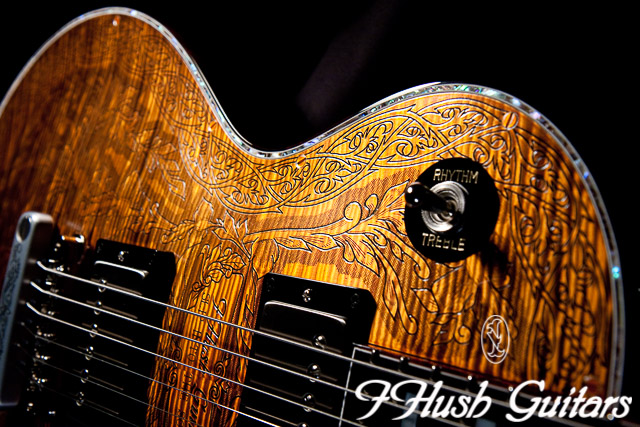 IHush Guitars  LP Roses figured