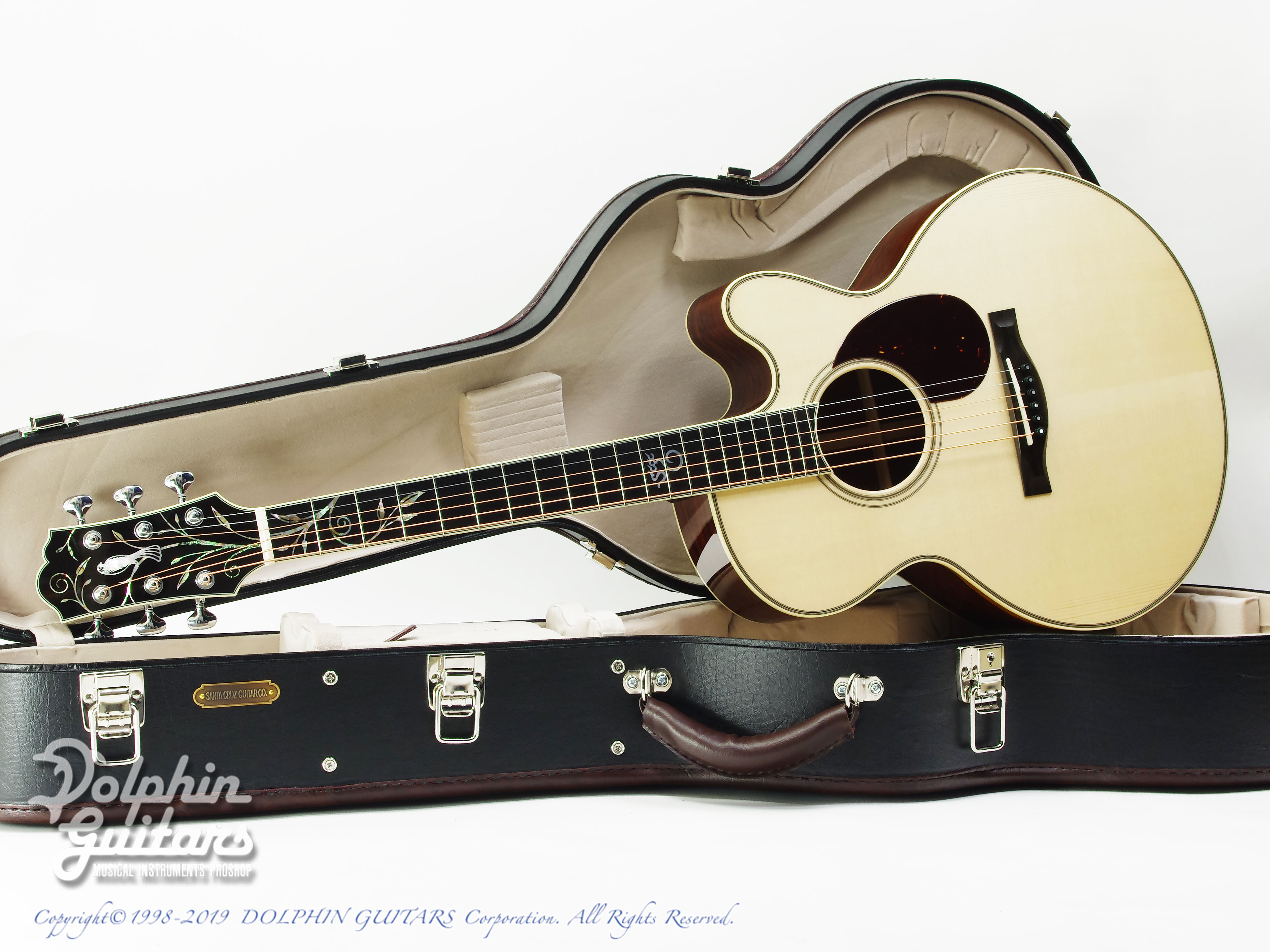 Santa Cruz F-Cutaway Custom Songbird &Vines Inlay