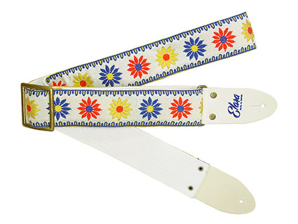 Elara Straps Happy Daisy White Heavy Nylon